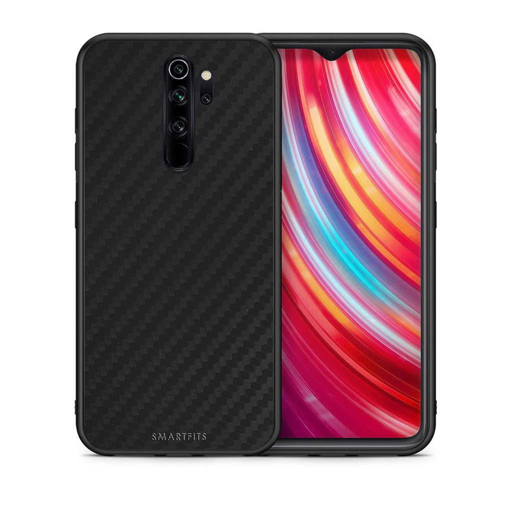 Θήκη Xiaomi Redmi Note 8 Pro Black Carbon από τη Smartfits με σχέδιο στο πίσω μέρος και μαύρο περίβλημα | Xiaomi Redmi Note 8 Pro Black Carbon case with colorful back and black bezels