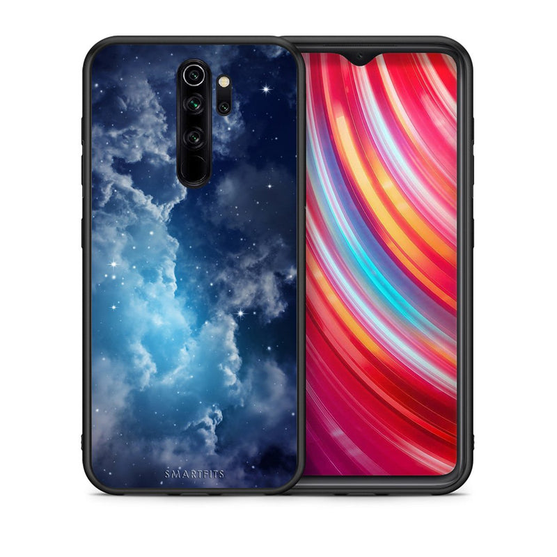Θήκη Xiaomi Redmi Note 8 Pro Blue Sky Galaxy από τη Smartfits με σχέδιο στο πίσω μέρος και μαύρο περίβλημα | Xiaomi Redmi Note 8 Pro Blue Sky Galaxy case with colorful back and black bezels