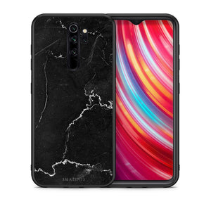1 - Xiaomi Redmi Note 8 Pro black marble case, cover, bumper