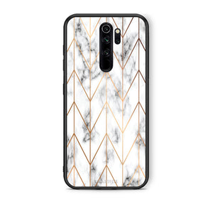 44 - Xiaomi Redmi Note 8 Pro Gold Geometric Marble case, cover, bumper
