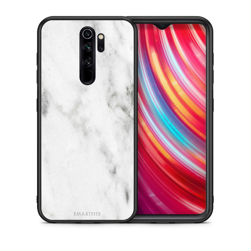 2 - Xiaomi Redmi Note 8 Pro White marble case, cover, bumper