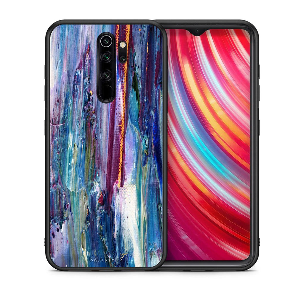 Θήκη Xiaomi Redmi Note 8 Pro Winter Paint από τη Smartfits με σχέδιο στο πίσω μέρος και μαύρο περίβλημα | Xiaomi Redmi Note 8 Pro Winter Paint case with colorful back and black bezels