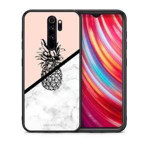 4 - Xiaomi Redmi Note 8 Pro Pineapple Marble case, cover, bumper
