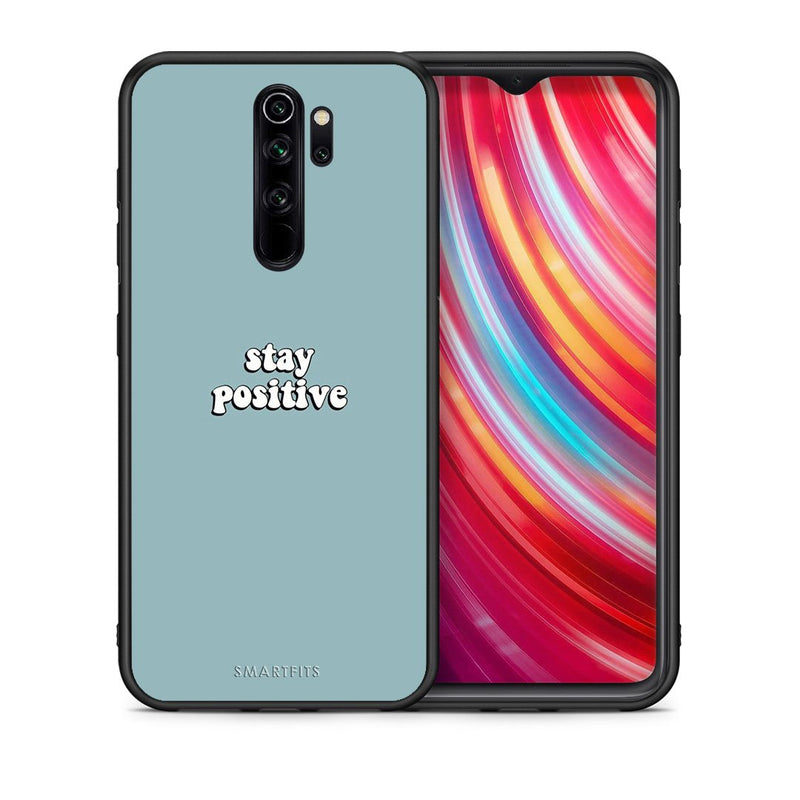 Θήκη Xiaomi Redmi Note 8 Pro Positive Text από τη Smartfits με σχέδιο στο πίσω μέρος και μαύρο περίβλημα | Xiaomi Redmi Note 8 Pro Positive Text case with colorful back and black bezels
