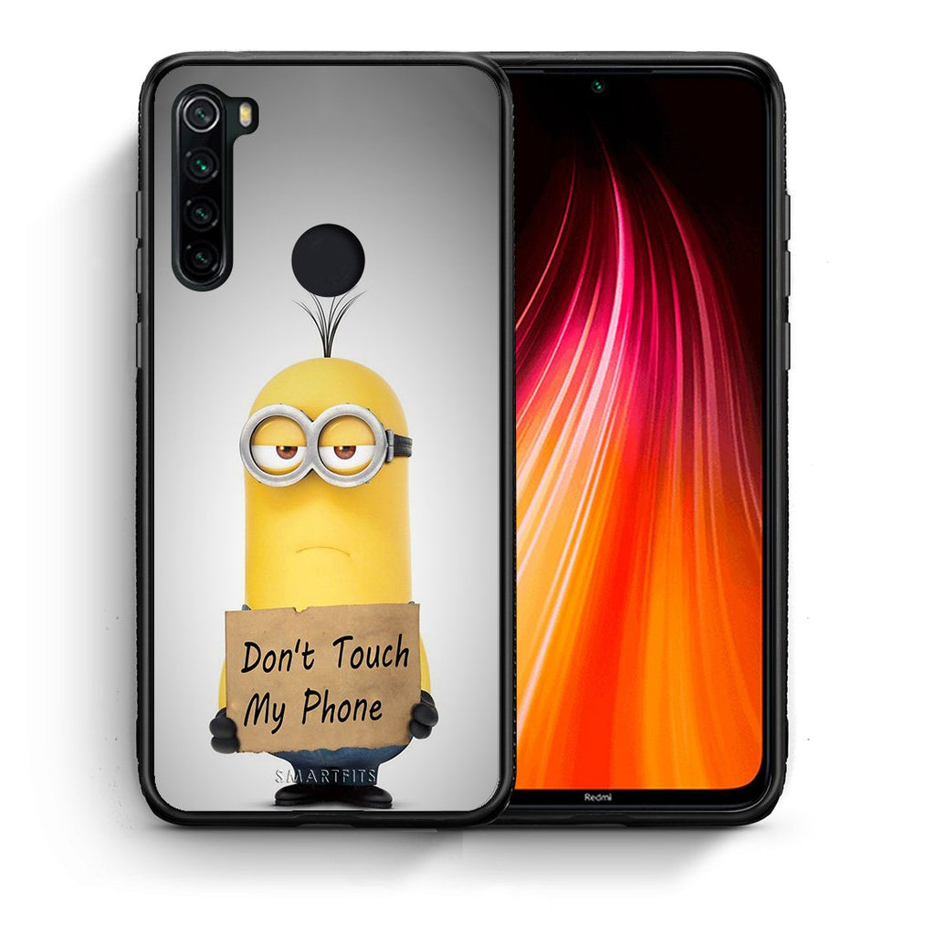 4 - Xiaomi Redmi Note 8 Minion Text case, cover, bumper
