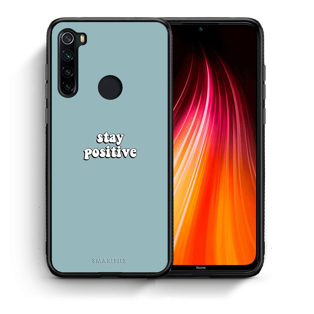 4 - Xiaomi Redmi Note 8 Positive Text case, cover, bumper