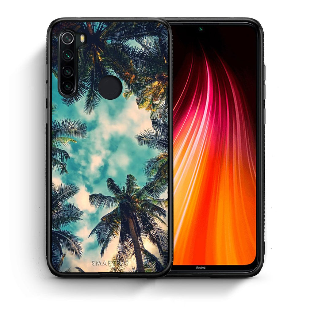 Θήκη Xiaomi Redmi Note 8 Bel Air Tropic από τη Smartfits με σχέδιο στο πίσω μέρος και μαύρο περίβλημα | Xiaomi Redmi Note 8 Bel Air Tropic case with colorful back and black bezels