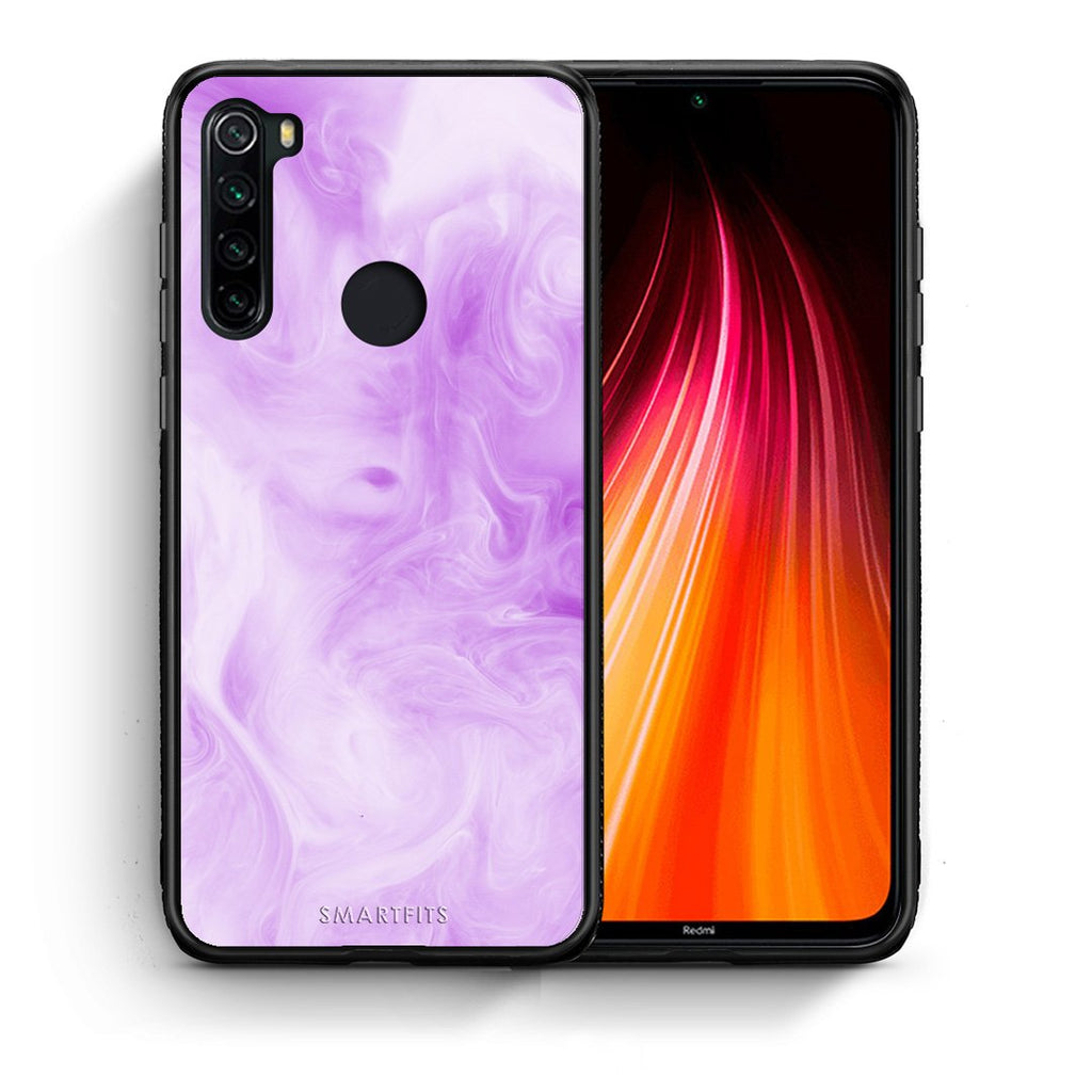 Θήκη Xiaomi Redmi Note 8 Lavender Watercolor από τη Smartfits με σχέδιο στο πίσω μέρος και μαύρο περίβλημα | Xiaomi Redmi Note 8 Lavender Watercolor case with colorful back and black bezels