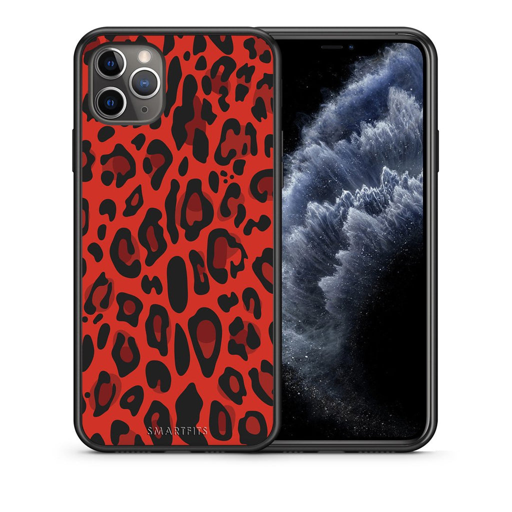 4 - iPhone 11 Pro Red Leopard Animal case, cover, bumper