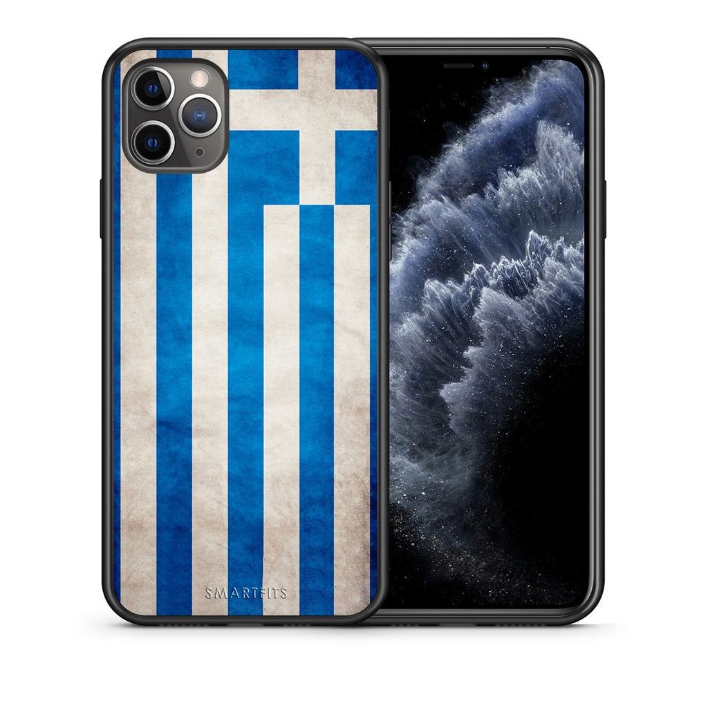 4 - iPhone 11 Pro Max Greece Flag case, cover, bumper