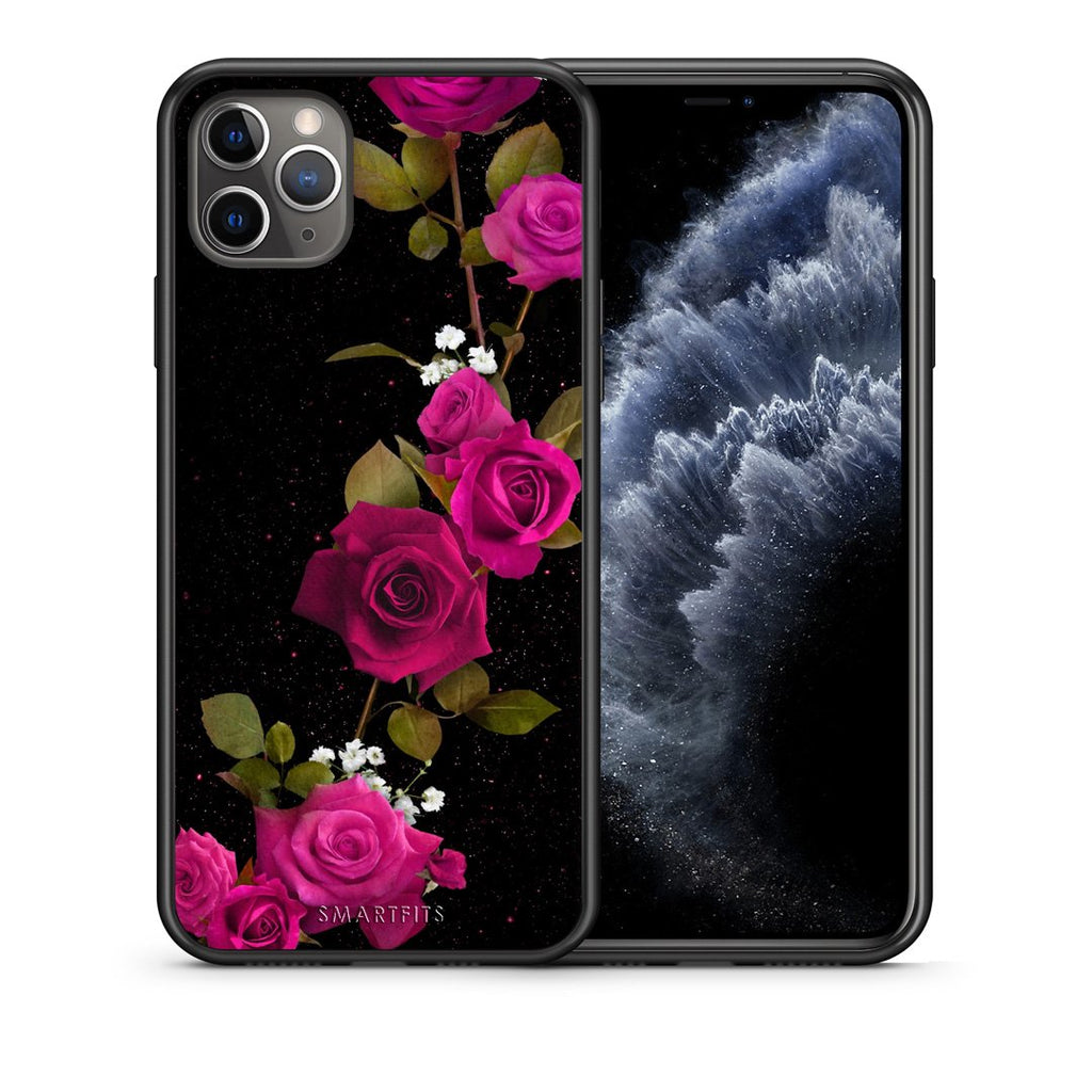 4 - iPhone 11 Pro Max Red Roses Flower case, cover, bumper