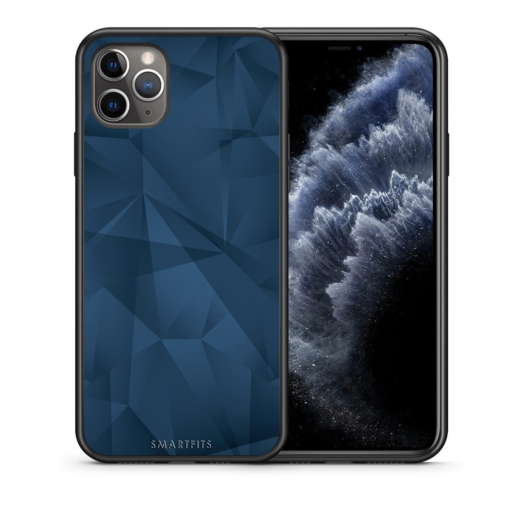 39 - iPhone 11 Pro Max  Blue Abstract Geometric case, cover, bumper