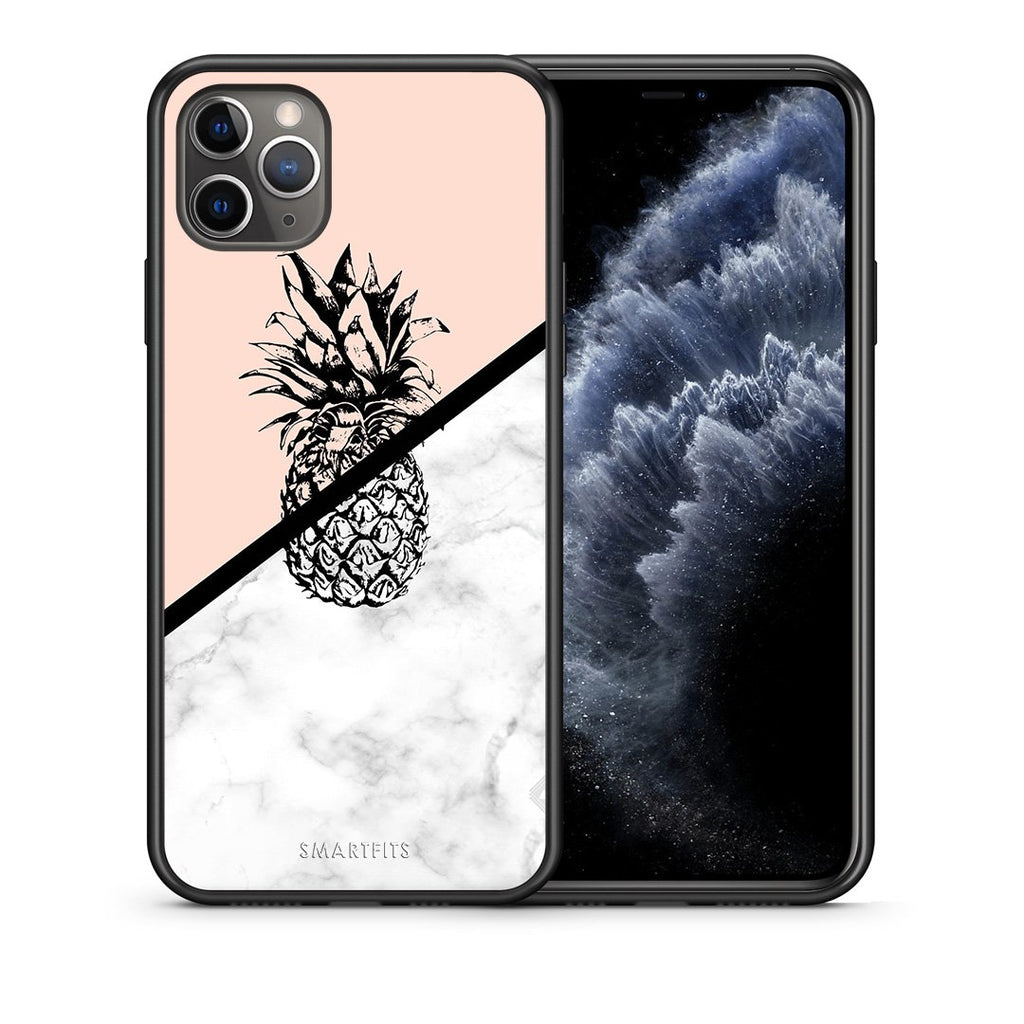 4 - iPhone 11 Pro Max Pineapple Marble case, cover, bumper
