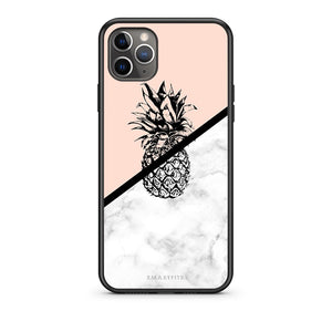 4 - iPhone 11 Pro Pineapple Marble case, cover, bumper