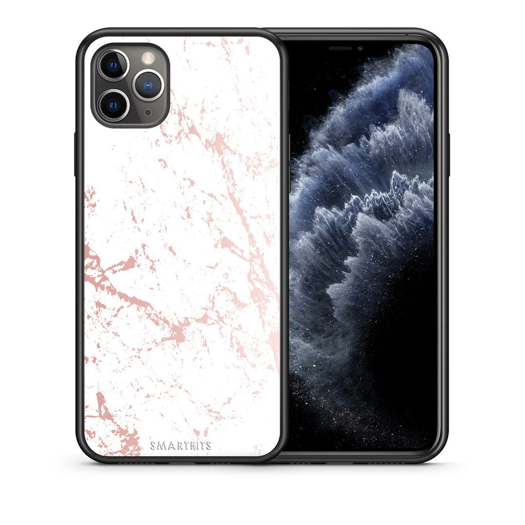 116 - iPhone 11 Pro Max  Pink Splash Marble case, cover, bumper