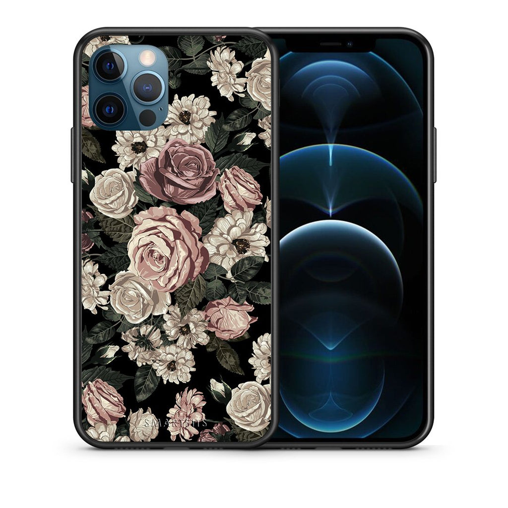 Θήκη iPhone 12 Pro Max Wild Roses Flower από τη Smartfits με σχέδιο στο πίσω μέρος και μαύρο περίβλημα | iPhone 12 Pro Max Wild Roses Flower case with colorful back and black bezels