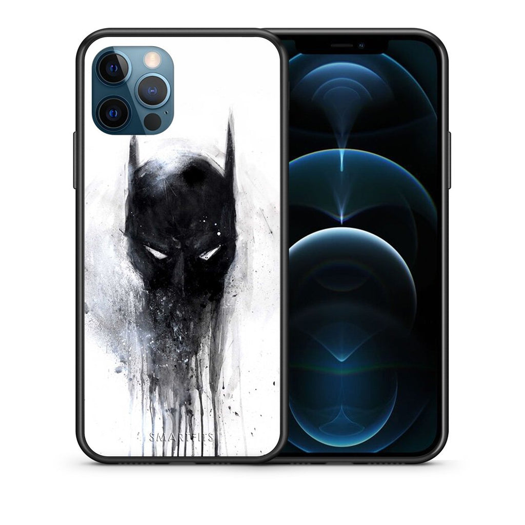 Θήκη iPhone 12 Pro Max Paint Bat Hero από τη Smartfits με σχέδιο στο πίσω μέρος και μαύρο περίβλημα | iPhone 12 Pro Max Paint Bat Hero case with colorful back and black bezels