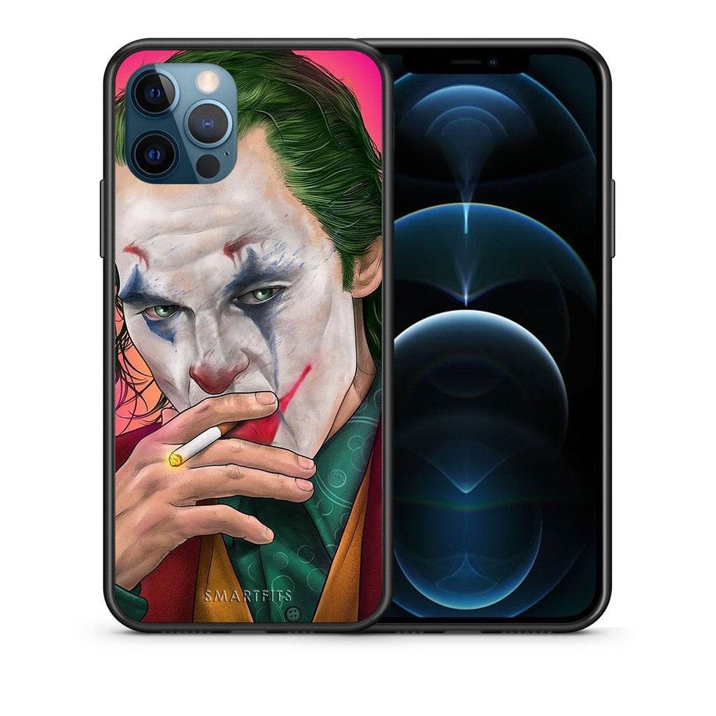 Θήκη iPhone 12 Pro Max JokesOnU PopArt από τη Smartfits με σχέδιο στο πίσω μέρος και μαύρο περίβλημα | iPhone 12 Pro Max JokesOnU PopArt case with colorful back and black bezels