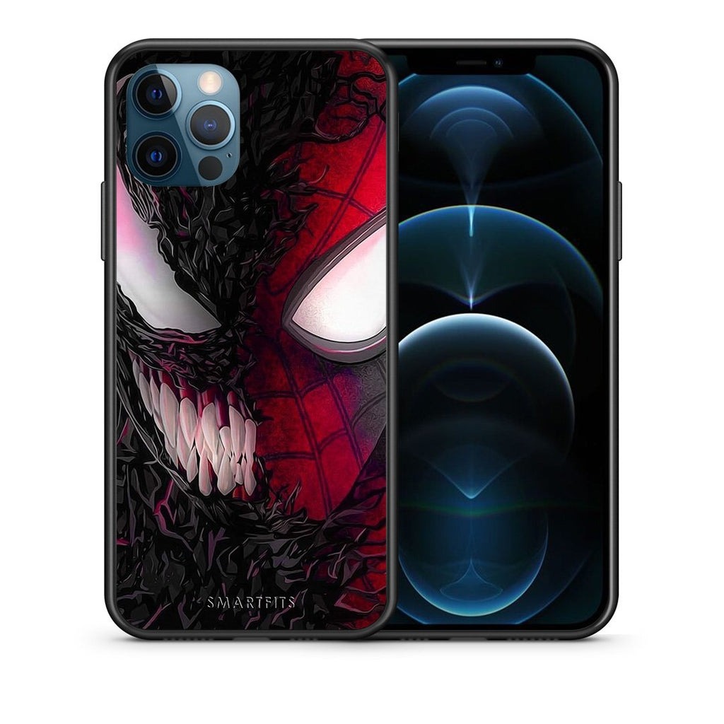 Θήκη iPhone 12 Pro Max SpiderVenom PopArt από τη Smartfits με σχέδιο στο πίσω μέρος και μαύρο περίβλημα | iPhone 12 Pro Max SpiderVenom PopArt case with colorful back and black bezels