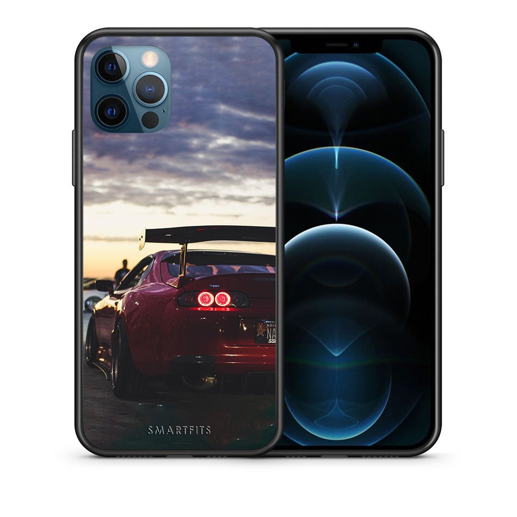 Θήκη iPhone 12 Pro Max Supra Racing από τη Smartfits με σχέδιο στο πίσω μέρος και μαύρο περίβλημα | iPhone 12 Pro Max Supra Racing case with colorful back and black bezels