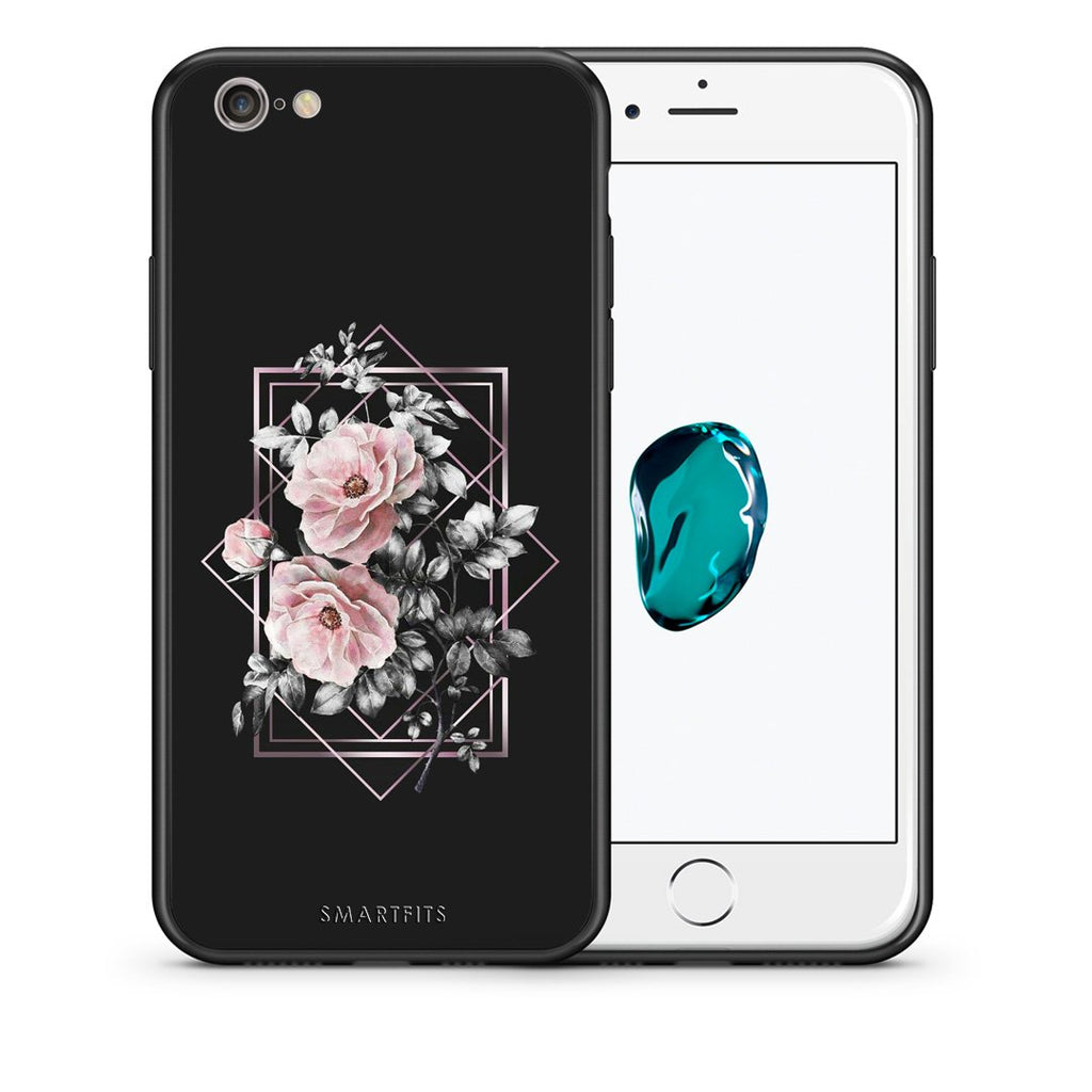 4 - iPhone 7/8 Frame Flower case, cover, bumper