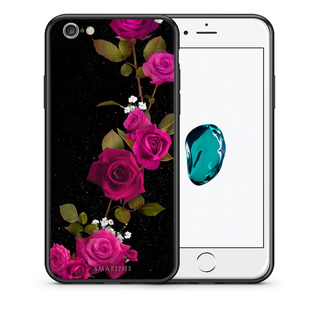4 - iphone 6 6s Red Roses Flower case, cover, bumper