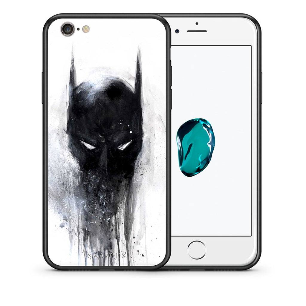 4 - iPhone 7/8 Paint Bat Hero case, cover, bumper