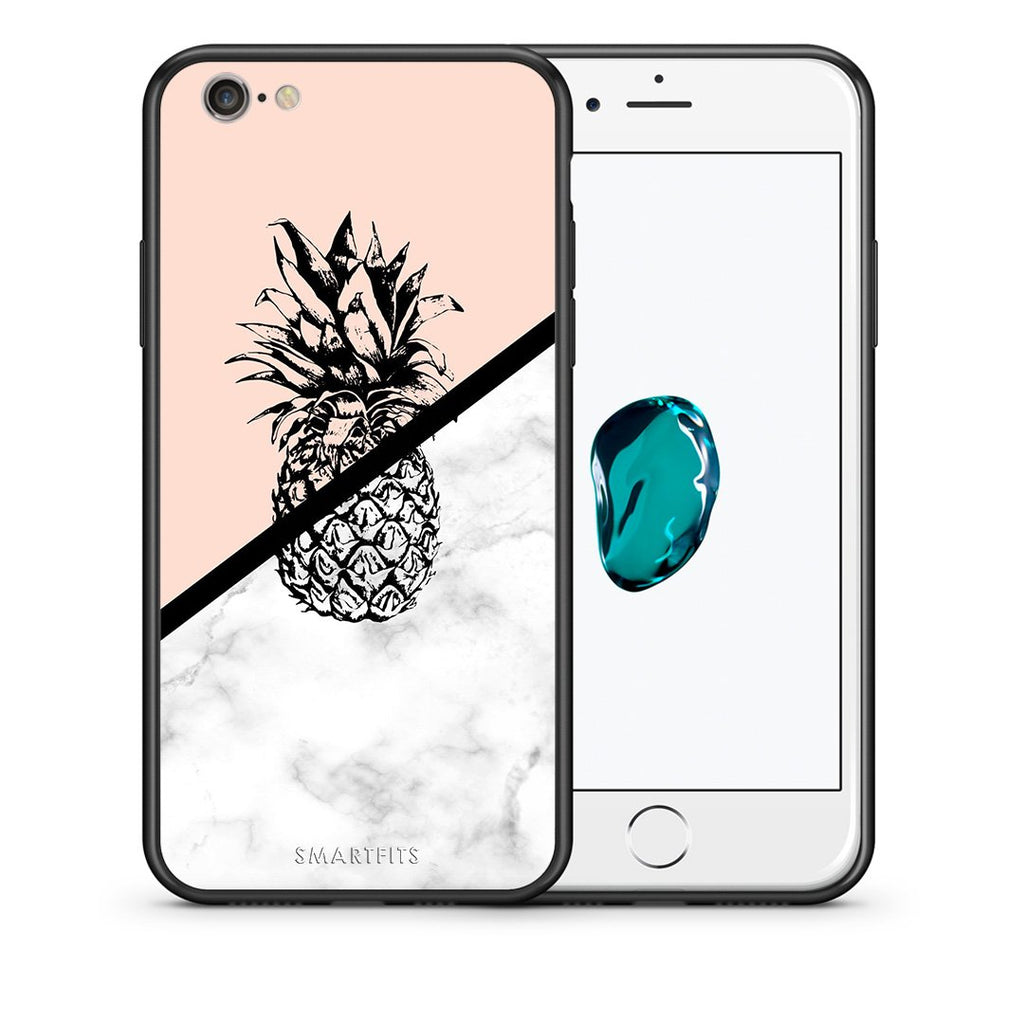 4 - iPhone 7/8 Pineapple Marble case, cover, bumper