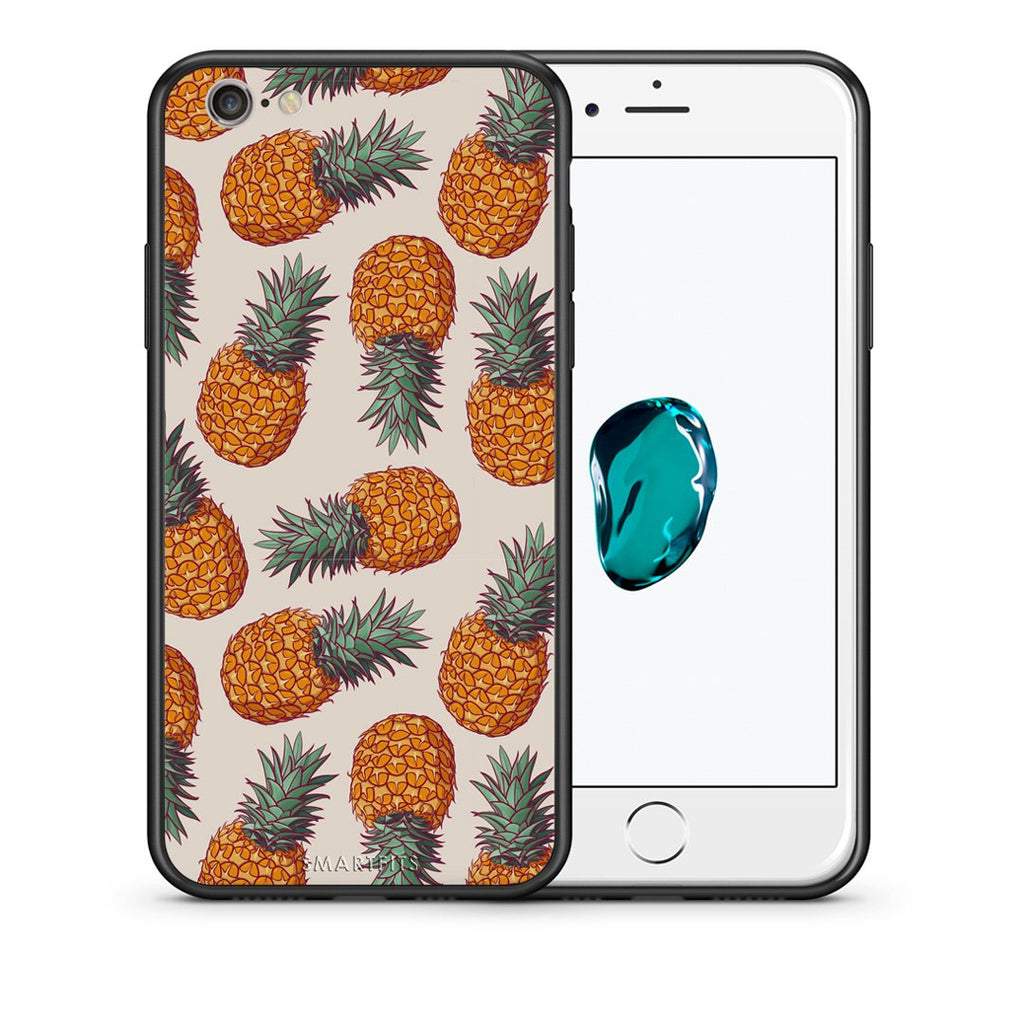 99 - iPhone 7/8 Summer Real Pineapples case, cover, bumper