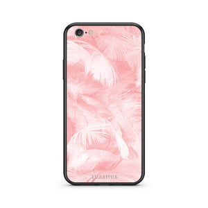 33 - iPhone 7/8 Pink Feather Boho case, cover, bumper