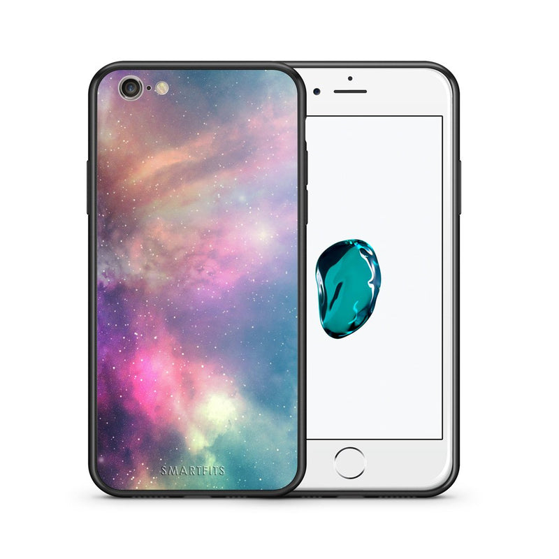 105 - iphone 6 6s Rainbow Galaxy case, cover, bumper
