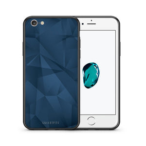 Θήκη iPhone 6/6s Blue Abstract Geometric από τη Smartfits με σχέδιο στο πίσω μέρος και μαύρο περίβλημα | iPhone 6/6s Blue Abstract Geometric case with colorful back and black bezels