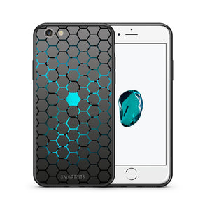 Θήκη iPhone 6 Plus/6s Plus Hexagonal Geometric από τη Smartfits με σχέδιο στο πίσω μέρος και μαύρο περίβλημα | iPhone 6 Plus/6s Plus Hexagonal Geometric case with colorful back and black bezels
