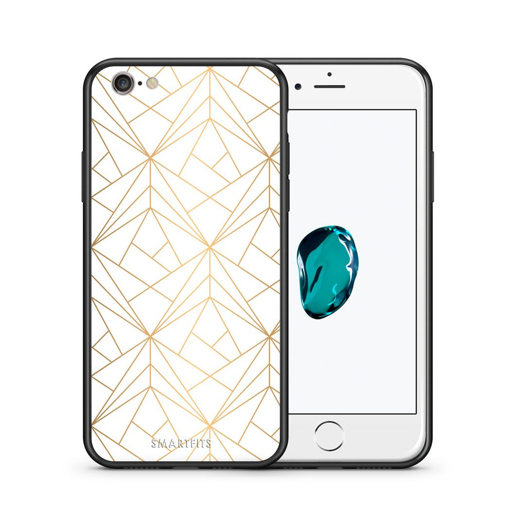 111 - iphone 6 6s Luxury White Geometric case, cover, bumper