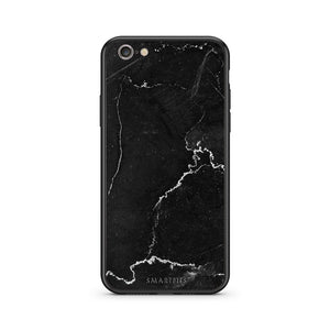 1 - iphone 6 6s black marble case, cover, bumper