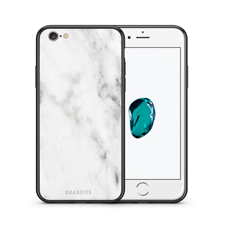 2 - iPhone 7/8 White marble case, cover, bumper