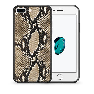 Θήκη iPhone 7 Plus/8 Plus Fashion Snake Animal από τη Smartfits με σχέδιο στο πίσω μέρος και μαύρο περίβλημα | iPhone 7 Plus/8 Plus Fashion Snake Animal case with colorful back and black bezels