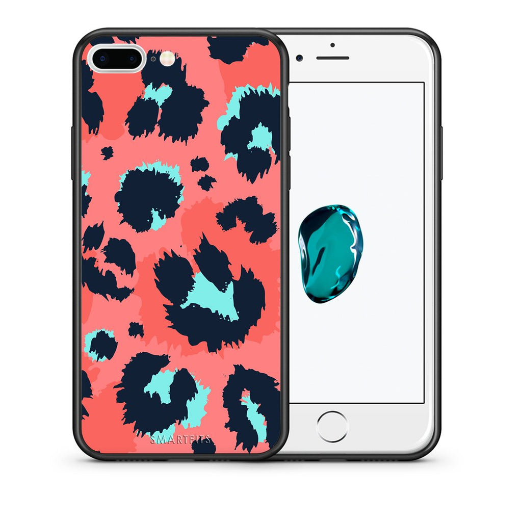 22 - iPhone 7 Plus/8 Plus Pink Leopard Animal case, cover, bumper