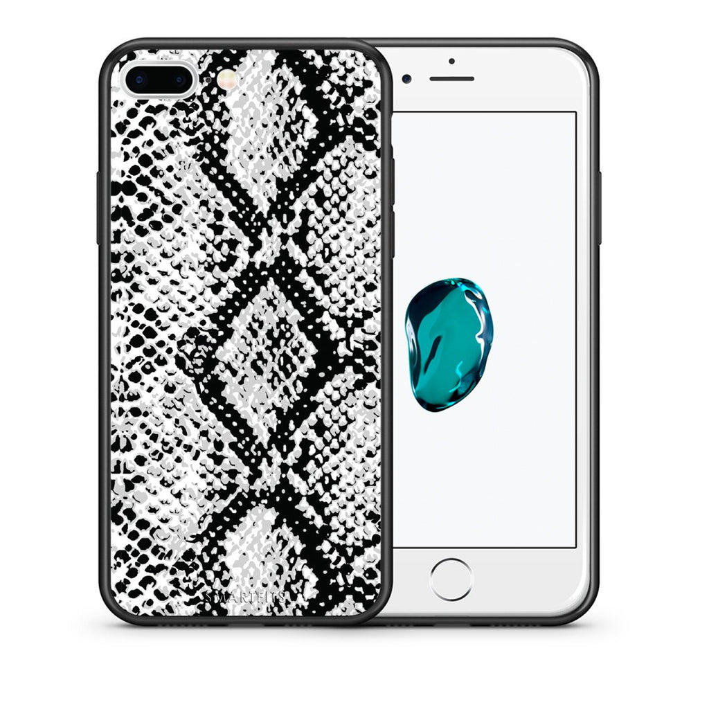 24 - iPhone 7 Plus/8 Plus White Snake Animal case, cover, bumper