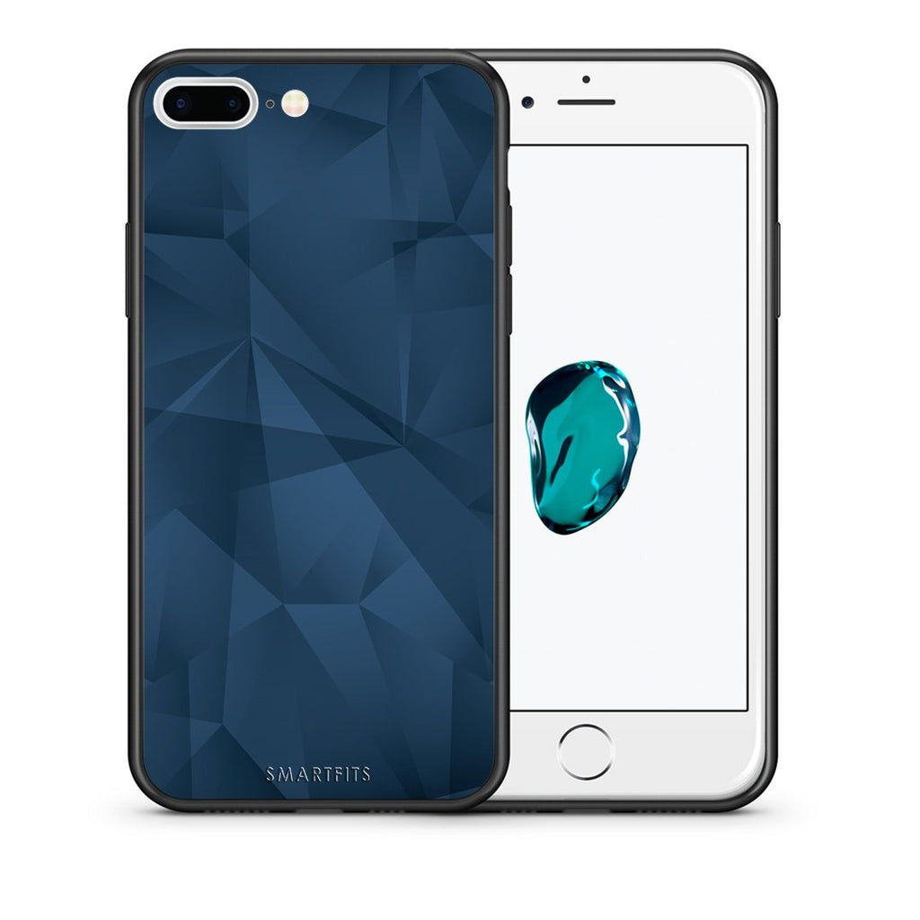 39 - iPhone 7 Plus/8 Plus Blue Abstract Geometric case, cover, bumper