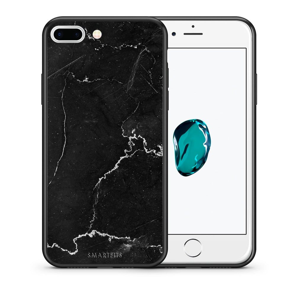 1 - iPhone 7 Plus/8 Plus black marble case, cover, bumper