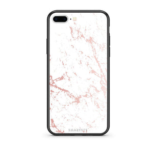 116 - iPhone 7 Plus/8 Plus Pink Splash Marble case, cover, bumper