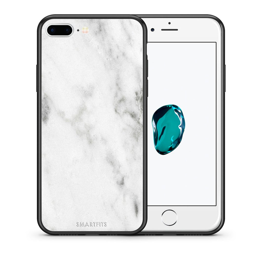 2 - iPhone 7 Plus/8 Plus White marble case, cover, bumper