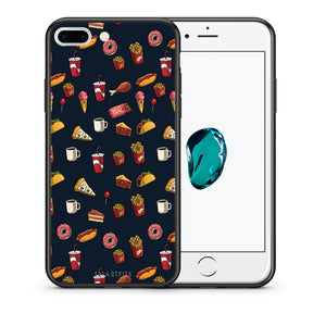 Θήκη iPhone 7 Plus/8 Plus Hungry Random από τη Smartfits με σχέδιο στο πίσω μέρος και μαύρο περίβλημα | iPhone 7 Plus/8 Plus Hungry Random case with colorful back and black bezels