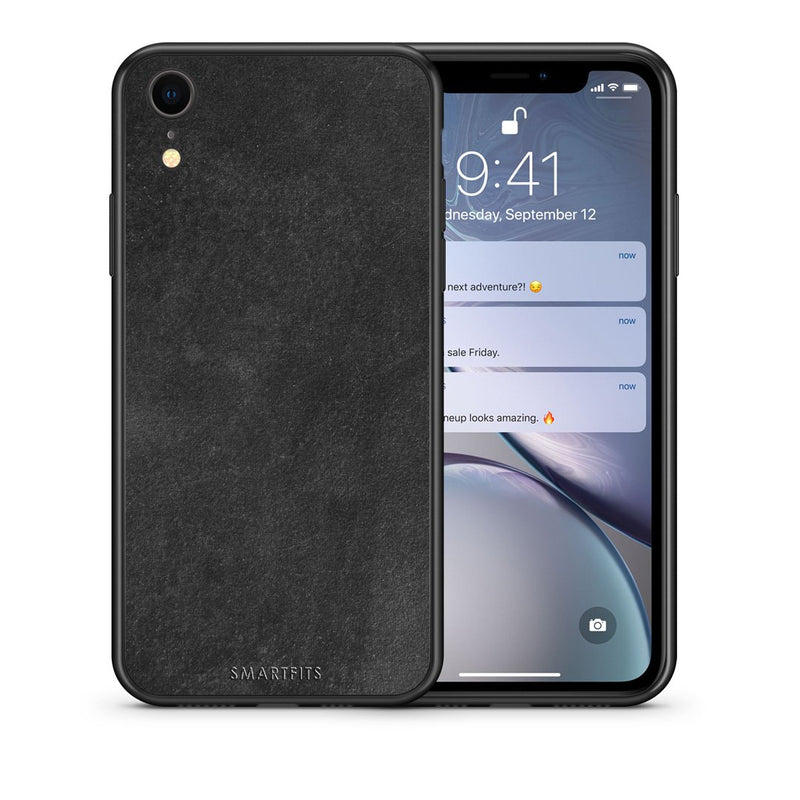 87 - iphone xr Black Slate Color case, cover, bumper
