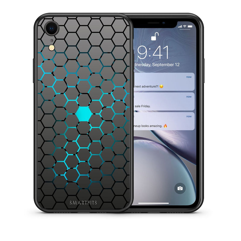 40 - iphone xr Hexagonal Geometric case, cover, bumper