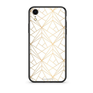 111 - iphone xr Luxury White Geometric case, cover, bumper