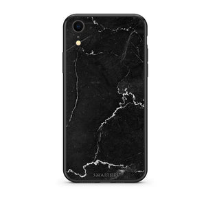 1 - iphone xr black marble case, cover, bumper