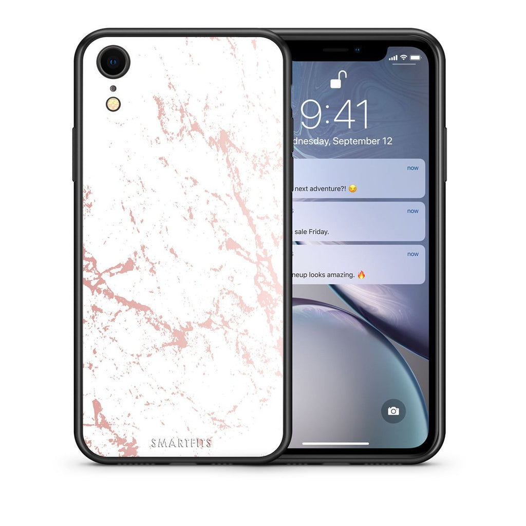 116 - iphone xr Pink Splash Marble case, cover, bumper