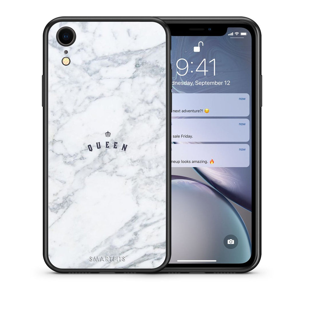 4 - iphone xr Queen Marble case, cover, bumper